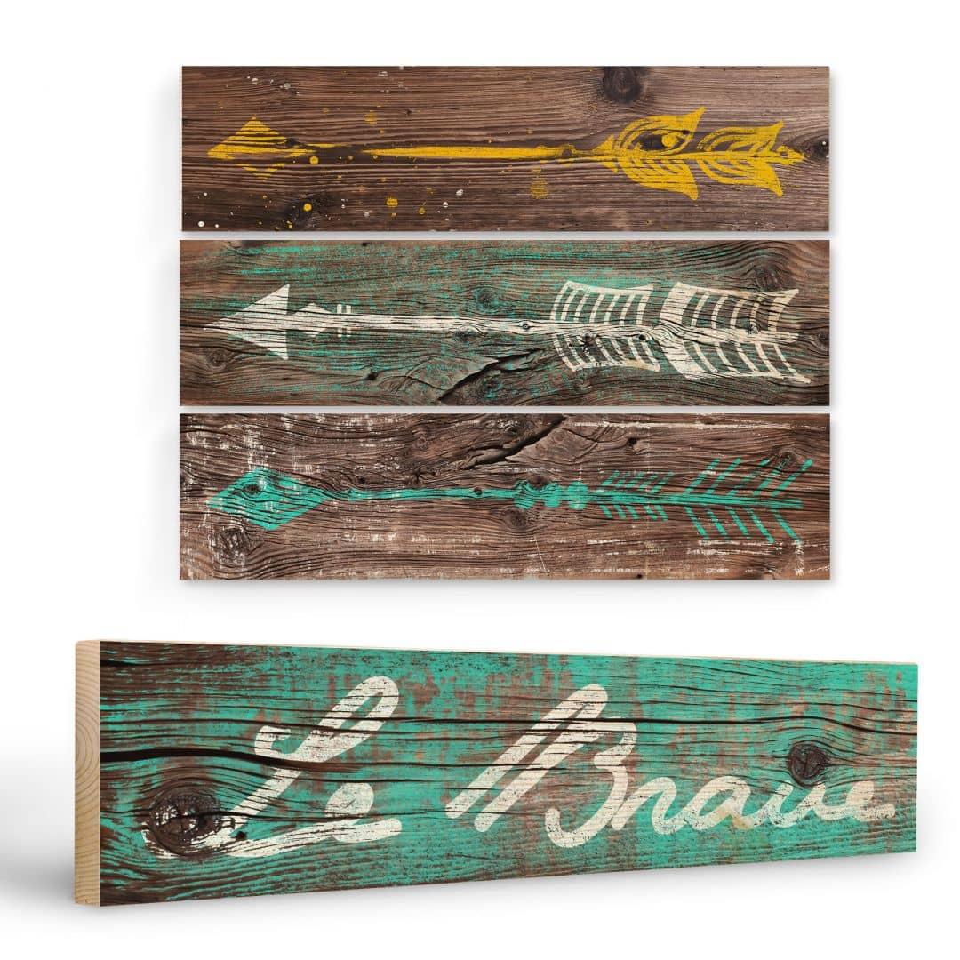 Targa in legno le brave 4 parti wall for Targhe decorative in legno