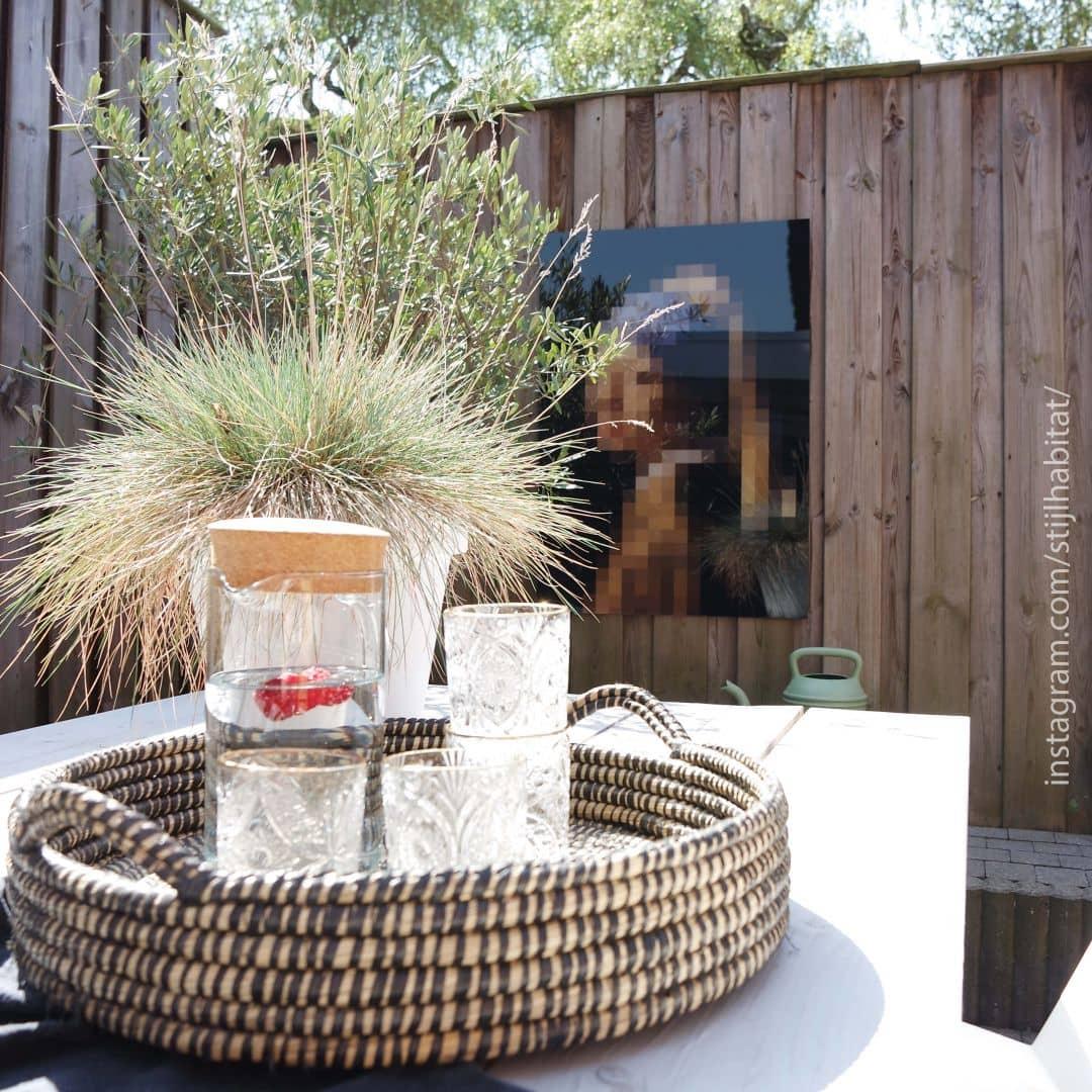 acrylglasbild pixelart vermeer das m dchen mit dem. Black Bedroom Furniture Sets. Home Design Ideas
