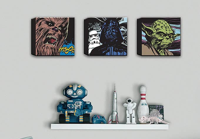 leinwand star wars comic 3 teilig wall. Black Bedroom Furniture Sets. Home Design Ideas