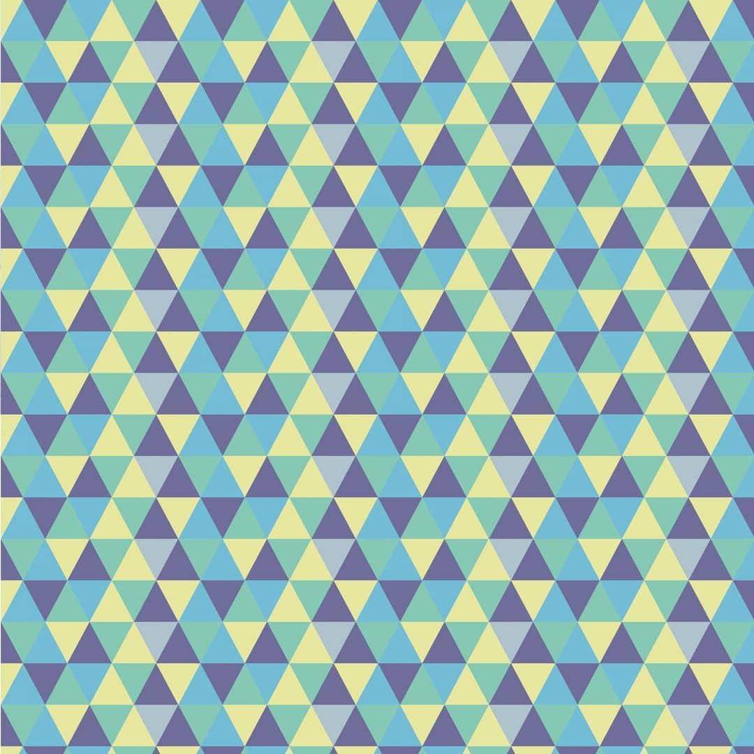 M belfolie muster dreiecke 02 blau wall for Mobelfolie muster