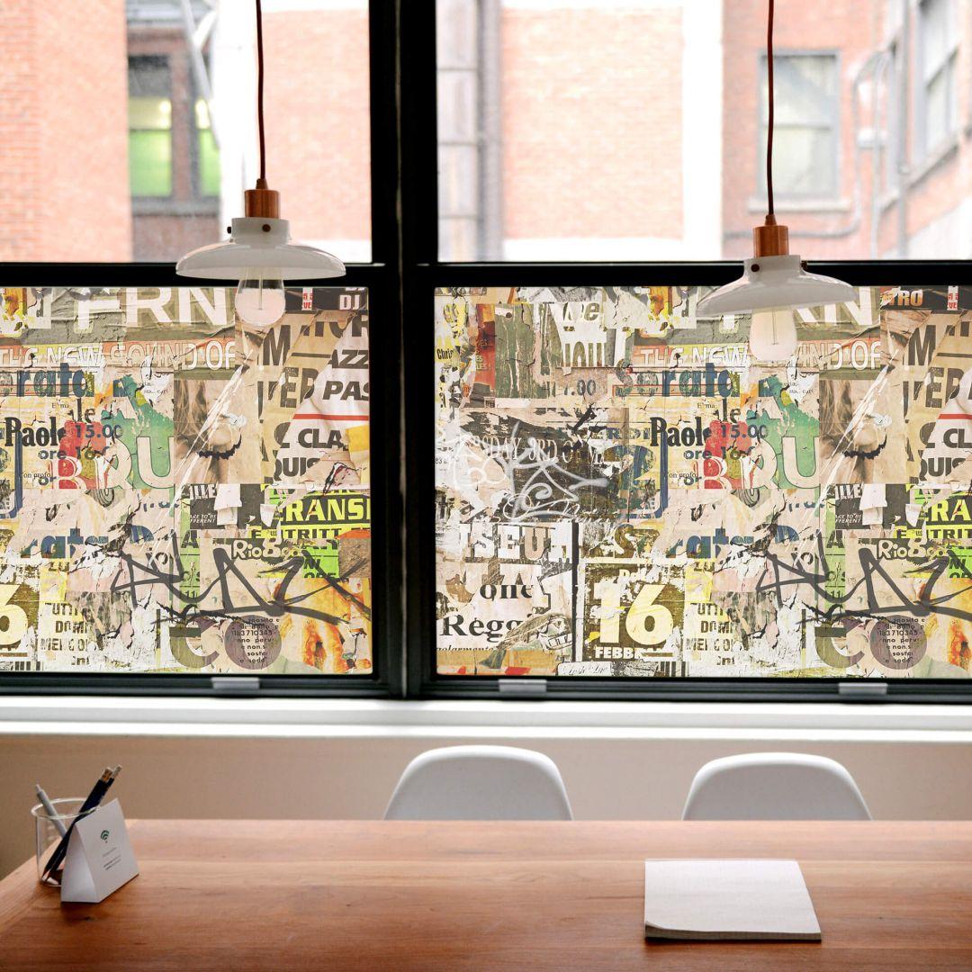 Pellicola adesiva per vetri manifesti strappati for Piastrelle 200x100