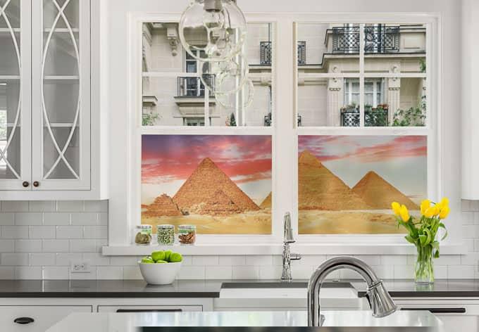 Pellicola adesiva per vetri le piramidi di giza panoramica for Piastrelle 200x100