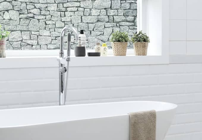Pellicola Adesiva Per Vetri Muro Di Granito Panoramica