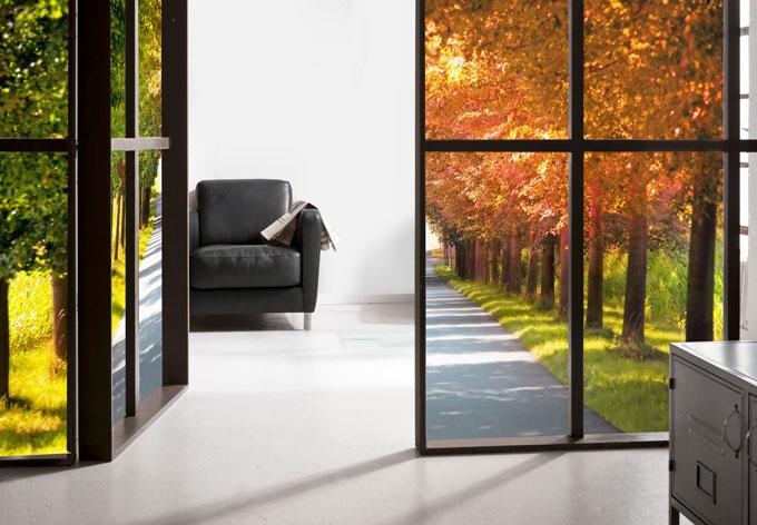 Pellicola adesiva per vetri autunno for Pellicola adesiva per vetri ikea