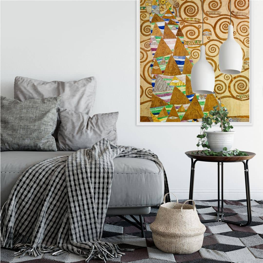 kunstdruck gustav klimt die erwartung als wallprint als dekoration von k l wall art das. Black Bedroom Furniture Sets. Home Design Ideas