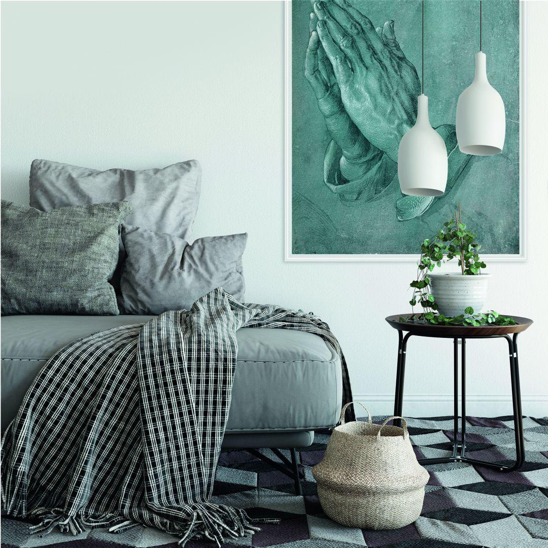 wallprint mit dem motiv des k nstlers d rer studie zu betende h nde wall. Black Bedroom Furniture Sets. Home Design Ideas
