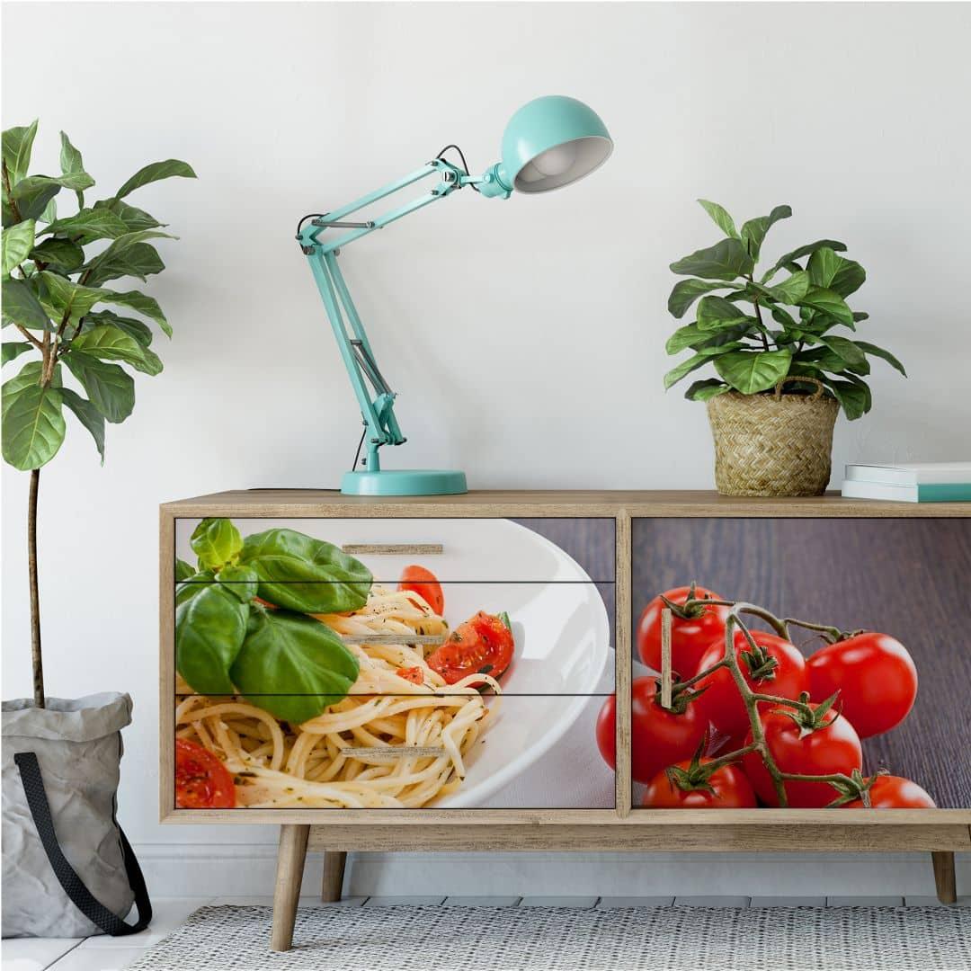 wallprint pasta italiana panorama sch ne wanddeko f r zuhause wall. Black Bedroom Furniture Sets. Home Design Ideas