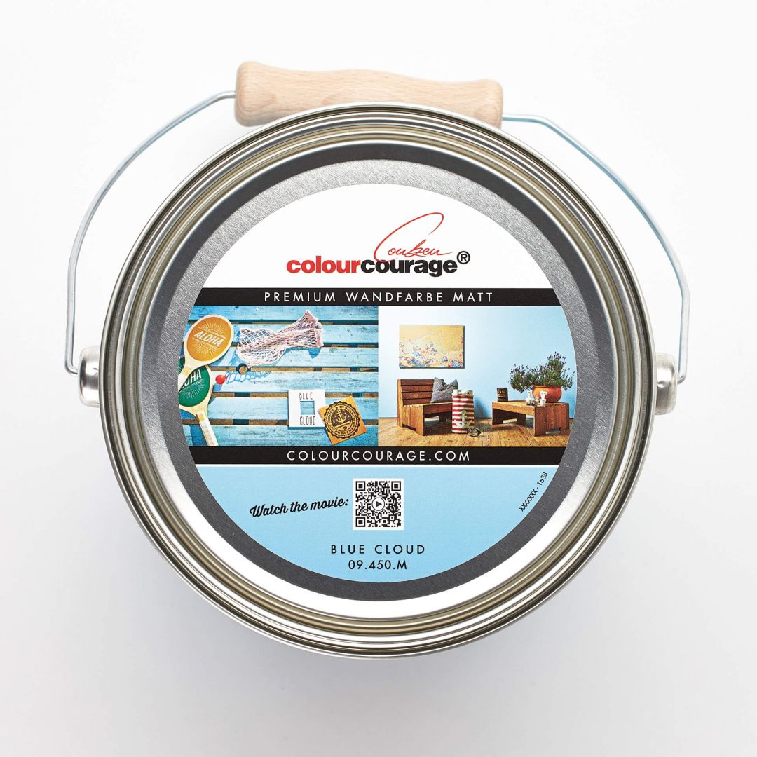 Colourcourage® Premium Wandfarbe Matt Blue Cloud