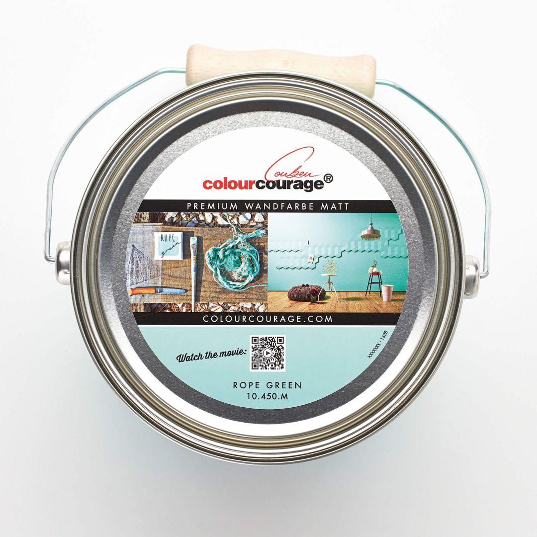 Colourcourage® Premium Wandfarbe Matt Rope Green