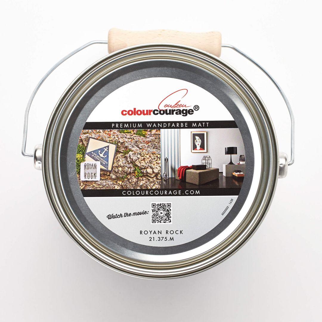 Colourcourage® Premium Wandfarbe Matt Royan Rock