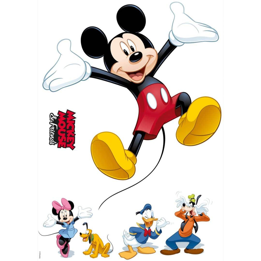 wandsticker mickey mouse and friends 14017h wall. Black Bedroom Furniture Sets. Home Design Ideas