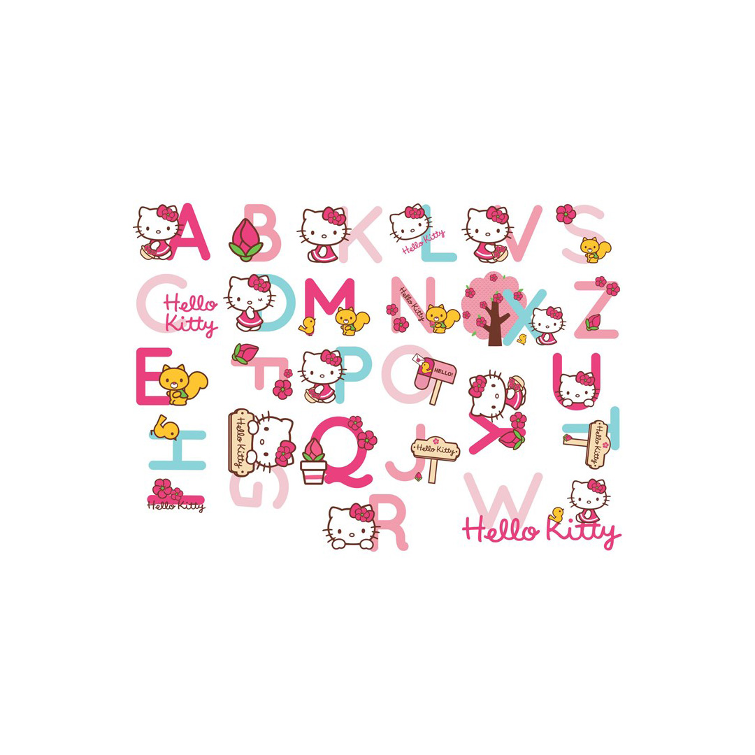 sticker mural sticker mural alphabet hello kitty. Black Bedroom Furniture Sets. Home Design Ideas