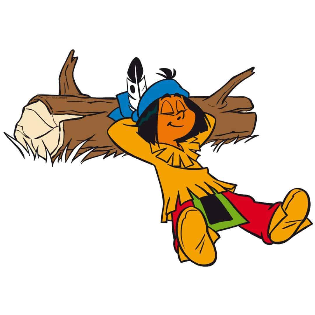 wandtattoo yakari  yakari schläft als comic wandsticker