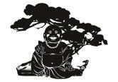 Wandtattoo Buddha mit Bonsai