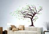 Wandtattoo Baum im Wind (2-farbig)