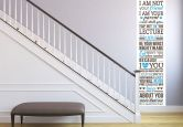 Wallprint W - I am not your friend - I am your parent... 1