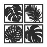 MDF - Holzdeko Blätter Tropical Set