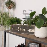 Targa in legno - Love