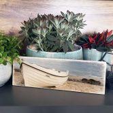 Targa in legno - Spiaggia