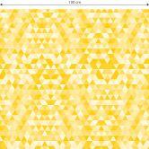 Möbelfolie, Dekofolie - abwischbar - Dreiecke 01 - Gelb