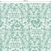 Möbelfolie, Dekofolie - abwischbar - Dreiecke 01 - Grün