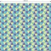 Möbelfolie, Dekofolie - abwischbar - Dreiecke 02 - Blau
