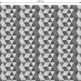 Möbelfolie, Dekofolie - abwischbar - Dreiecke 02 - Schwarz-Weiß