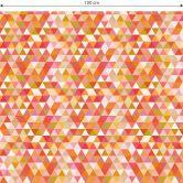Möbelfolie, Dekofolie - abwischbar - Dreiecke Bunt