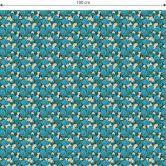 Möbelfolie, Dekofolie - abwischbar - Blaue Hortensie