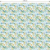 Möbelfolie, Dekofolie - abwischbar - Gänseblümchen
