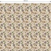 Möbelfolie, Dekofolie - abwischbar - Retro Flowers