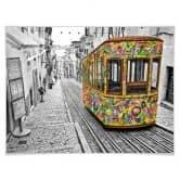Affiche Ben Heine - Tram à Lisbonne