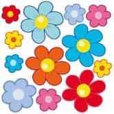 Muurstickers Bloemen voor Kinderen Set