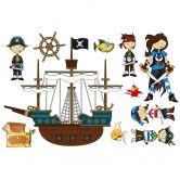 Muursticker Piratenwereld 2