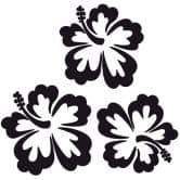 Muursticker Hibiscus Bloemen set van 3
