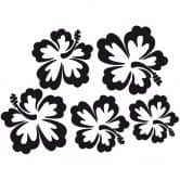 Muurstickers Hawaii Bloemen Set van 5