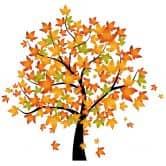 Wandtattoo Baum Herbst 1