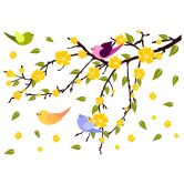 Falling Leaves with Birds Wall sticker