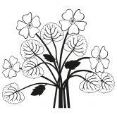 Adesivo murale - Composizione floreale