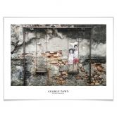 Poster George Town - Street Art: Kinder auf der Schaukel