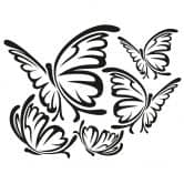 Butterflies Impression Wall sticker