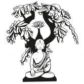 Buddha con l'albero dell'illuminazione