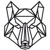 Wall sticker origami wolf