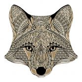 Wandtattoo Metallic Fox