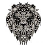 Muursticker Metallic Leeuw