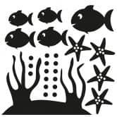 Wandtattoo Fischbundle