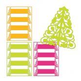 3D Papier-Serviettenring Weihnachtsbaum (4er Set)
