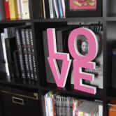 Dekobuchstaben 3D LOVE pink