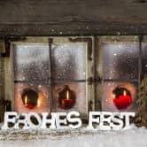 Dekobuchstaben 3D Frohes Fest