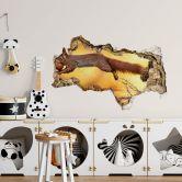 3D Wandtattoo van Duijn - Eichhörnchen im Sprung